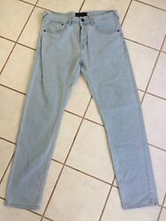 TAVIK NEW! Men's Light Wash Modern Beach Culture Slim Leg Button Fly Jeans Sz 32