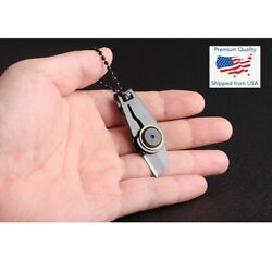 Mini Zipper Knife Folding Tool Portable Outdoor Keychain Compact Pocket Small $6.29