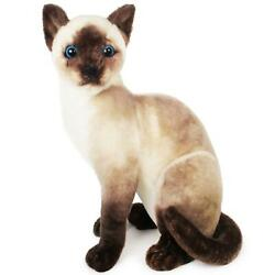 Stefan the Siamese Cat  14 Inch Stuffed Animal Plush  By Tiger Tale Toys