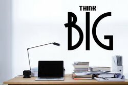 Think Big wall decal sticker quote home office decor motivation think big vinyl