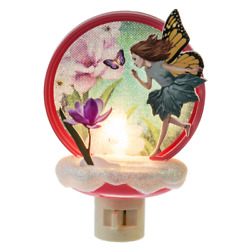 Garden Fairy Butterfly Floral Acrylic Night Light by Midwest Gift