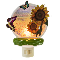 Sunflower & Butterflies Butterfly Acrylic Night Light by Midwest Gift
