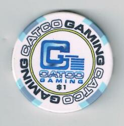CATCO GAMING LAS VEGAS NV. $1.00 NCV ADVERTISING CHIP GREAT FOR COLLECTION # 1 $3.00