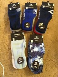 CONVERSE Made For Chucks 3 Pack Ultra Low Womens Socks Sz 4 10 Blue Assorted $13.75