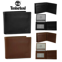 Timberland Men#x27;s Genuine Leather Passcase Wallet $17.85