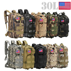 30L Outdoor Military Molle Tactical Backpack Rucksack Camping Hiking Bag Travel $24.88