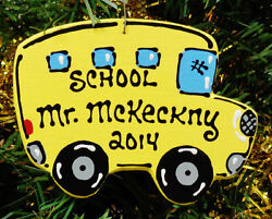 Ornament U CHOOSE NAME amp; YEAR SCHOOL BUS DRIVER Christmas Kids Personalize Gift $7.50