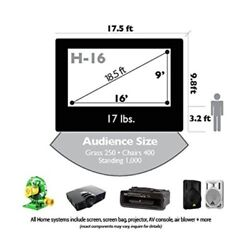 CineBox Home 16' x 9' Backyard Theater Projection System