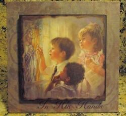 Demdaco Mama Says In His Hands Wall Or Table Art Wooden Frame Picture