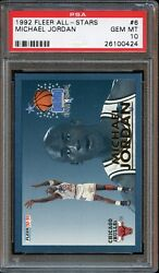 1992 Fleer All-Stars Michael Jordan #6 PSA 10 GEM MINT. Brutal POP 11.