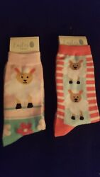 Novelty Women#x27;s Socks Sheep Easter 2 pr. NWT one size $8.99