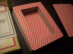 BEE HOLLOW DECK Red NEW Hide object in deck of cards Spy safe hide $20.00