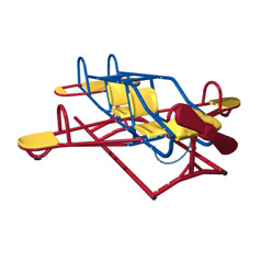 Ace Flyer Teeter Totter Playground Set Kids Play Interactive Cockpit Stationary