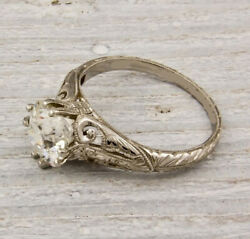 Antique 2.00Ct White Round Cut Diamond Art Deco Engagement Ring Solid 925 Silver $95.53