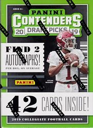 2019 Contenders Draft Picks Football sealed blaster box 7 packs 6 cards 2 auto