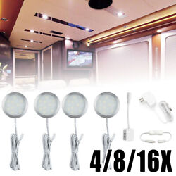 4 8 12 Bright LED Kitchen Cabinet Bar Counter Car Boat Lighting Kit Switch Power