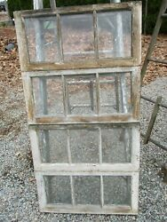 4 Antique Wood Windows 3 Pane Windows Wood Pegged Wedding She Shed Photos