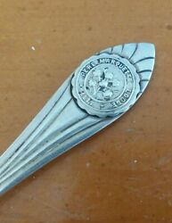 vintage PERE MARQUETTE LODGE Sterling Silver Souvenir SPOON: ILLINOIS $37.99