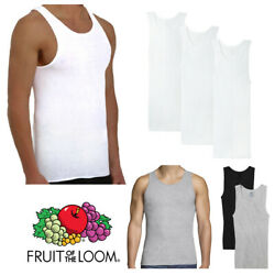 Fruit Of The Loom Men's 3 Pack Tag-Free Cotton Athletic A-Shirts