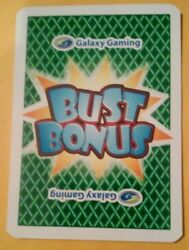 2015 BUST BONUS GALAXY GAMING LAS VEGAS HOW TO PLAY CARD GREAT FOR COLLECTION $3.00