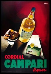 8682.Decoration Poster print.Home Room wall art design.Campari Italian decor $28.00