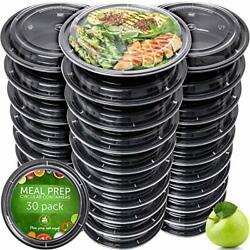 Meal Prep Containers 30 Pack Reusable Microwavable BPA Free Leakproof Plastic