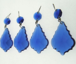 10PCS BLUE CRYSTAL CHANDELIER PENDALOGUE FRENCH PRISMS WEDDING 2.5quot; $19.99
