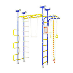 Pegasus - Kids Indoor Gym - Home Playground Set - Swedish Wall No Holes to Drill