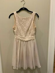 Blush Pink Short Cocktail Chiffon Dress Size 5 Prom or Bridesmaid Speechless $16.00
