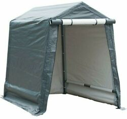 Storage Shelter 6 X 8 Feet Outdoor Carport Shed Heavy Duty Car Canopy Grey New