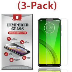 3 Pack Tempered Glass Screen Protector For Motorola Moto G7 Play G7 Power Supra $3.95