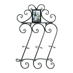 Wrought Iron Wine Wall Rack Accent Plus 10015695 $58.95