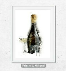Prosecco Art Kitchen Wall Dining Room Print Living Room Print Kitchen Wall Art GBP 12.00
