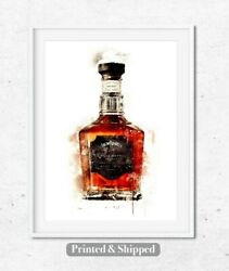 Whiskey Art Kitchen Wall Dining Room Print Living Room Print Fathers Day Gift GBP 17.00