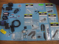 Blade E Flite Parts Lot Rotor Blades Batteries ChargersRC HELICOPTER PARTS $85.00