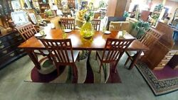 Gorgeous Bob Timberlake Cherry Dining Table w Leafs & 6 Chairs Arts and Crafts