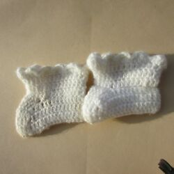 Dy Dee Doll Baby Clothes Knit Booties Socks Angora 18 20quot; Tiny Tears Vintage $32.00