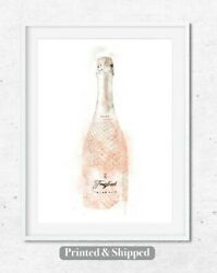 Prosecco Pink Art Kitchen Wall Dining Room Print Living Room Print Kitchen Art GBP 12.00