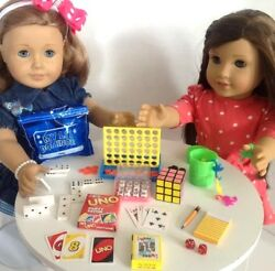 8 Playable Mini Games for American Girl 18 inch Doll Accessories Fit SET