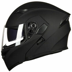 Motorcycle Dual Visor Flip up Modular Full Face Helmet DOT Approved M L XL XXL S $64.99