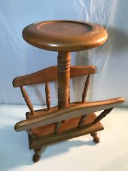 Vintage Wooden Magazine Rack Table Accent End Side Table