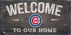Chicago Cubs Welcome to our Home Wood Sign - New 12