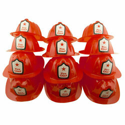 12 Red Plastic Paw Patrol Firefighter Chief Hat Marshal Fireman Party Favor LOT $11.99