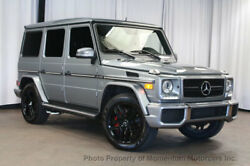 2013 Mercedes-Benz G-Class G63 AMG 4MATIC G63 AMG 4MATIC G-Class BEAUTIFUL PALADIUM SILVER OVER BLACK 20 INCH BLACK WHEEL
