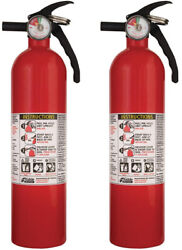 Fire Extinguisher Multi Use Home Office Shop Emergency 1-A:10-B:C Kidde 2 Pack