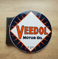 Original Veedol Porcelain sign !