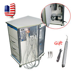 BD-408 Dental Delivery Unit Cart W Air Compressor Scaler LED Curing Light + Gift
