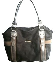 Butler Bag Large Brown Shoulder Tote Handbag Purse With Matching Wallet Bag