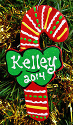 CANDY CANE Ornament U CHOOSE NAME amp; YEAR Personalize Christmas KIDS Holiday $7.50