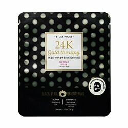 Etude House 24K Gold Therapy Fantastic Gold Black Pearl Mask - Brightening 5 She